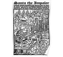 Santa The Impaler Christmas Card Poster