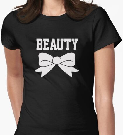 Beauty Bow Womens Fitted T-Shirt