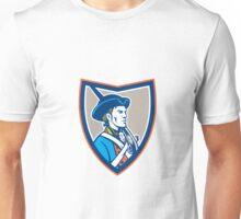 American Patriot Musket Side Shield Retro Unisex T-Shirt