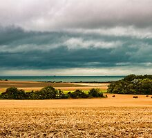 Sky, sea and fields by numgallery