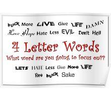 4 Letter Words Poster