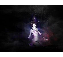 Witch in dark forest Photographic Print