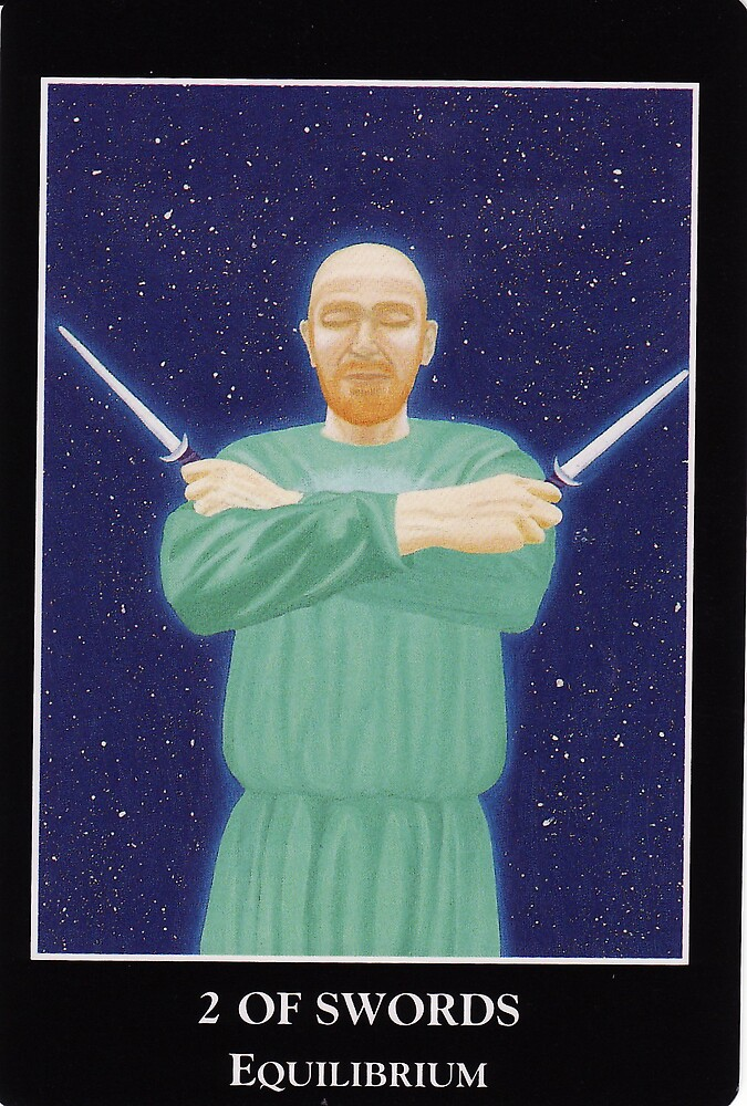 2 of Swords - Equilibrium by Lisa Tenzin-Dolma