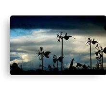 Pointing the Finger  Canvas Print