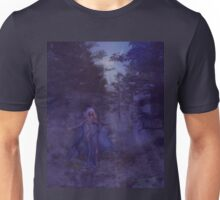 Woman in the foggy forest Unisex T-Shirt