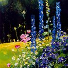 Delphiniums and cosmos  by calimero