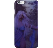 Woman in the foggy forest 2 iPhone Case/Skin