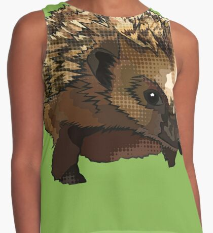 Hedgehog Pop Art (Moody Harry Hogsworth) Contrast Tank