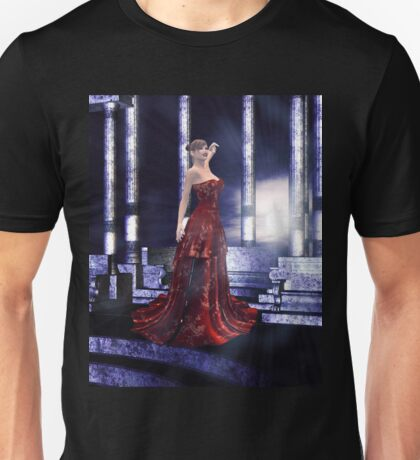 Woman on balcony Unisex T-Shirt