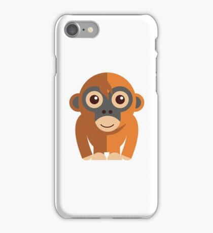 Funny cartoon monkey iPhone Case/Skin