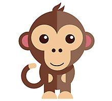 Cute cartoon monkey Photographic Print