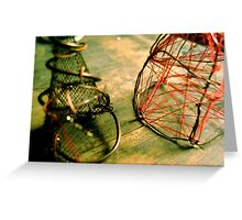 Wire and Thread Greeting Card