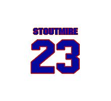 National football player Omar Stoutmire jersey 23 Photographic Print