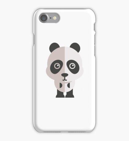 Funny cartoon panda iPhone Case/Skin