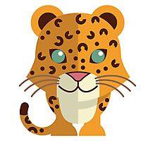 Cute cartoon cheetah Photographic Print