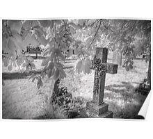 Infrared Graveyard Poster