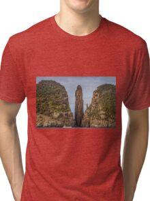 Tasman Island Totem Pole Tasmania Tri-blend T-Shirt