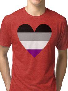 Asexual heart Tri-blend T-Shirt