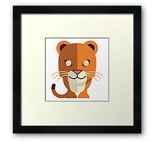 Funny cartoon panther Framed Print