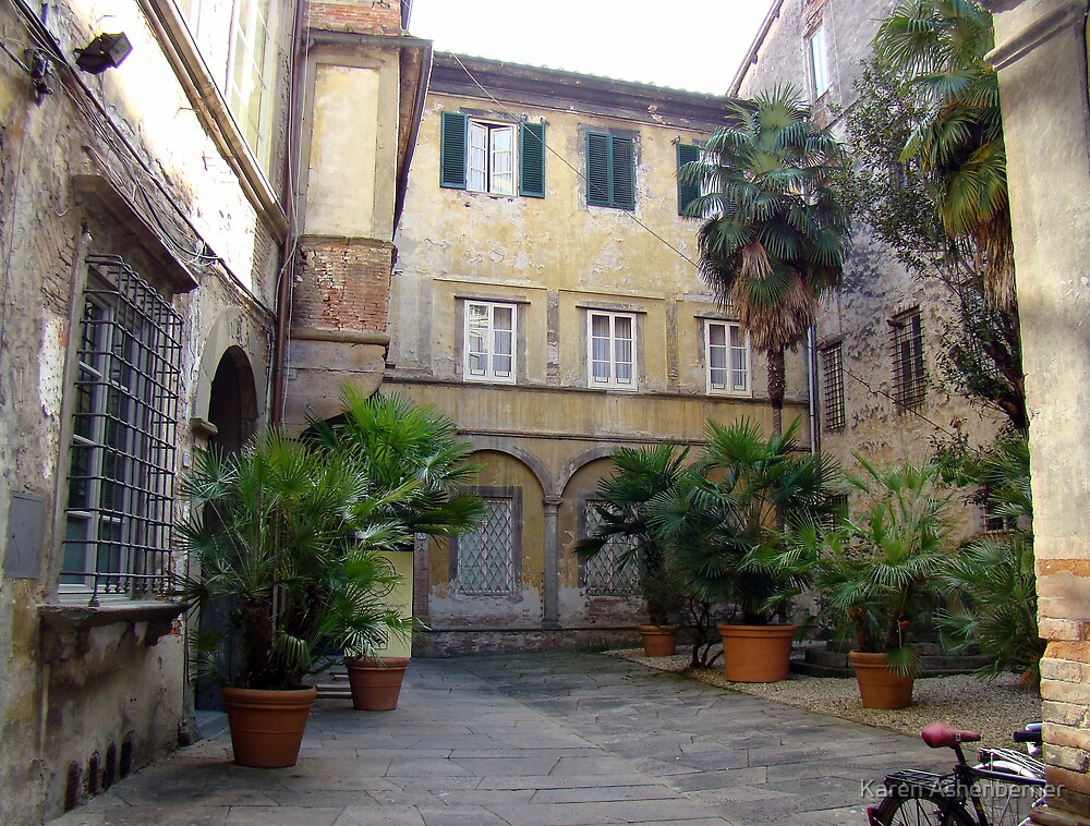 Siena Courtyard by Karen Ashenberner