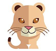 Cute female cartoon lion Photographic Print
