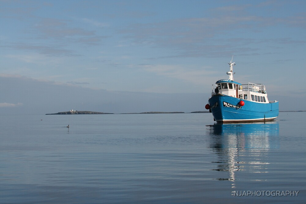 fishing boat near the farne islands by NJAPHOTOGRAPHY