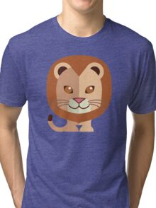 Cute male cartoon lion Tri-blend T-Shirt