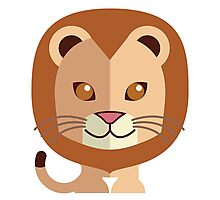 Cute male cartoon lion Photographic Print