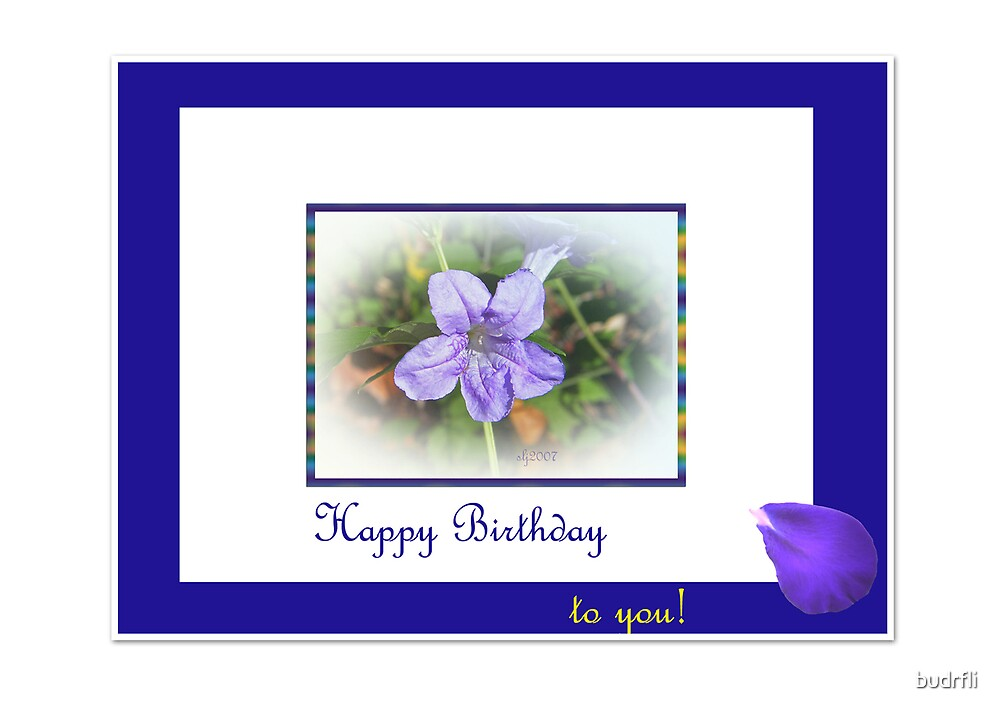star petal birthday by budrfli