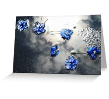Fallen Delphiniums - Series 1 Greeting Card