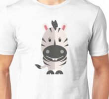 Adorable striped cartoon zebra Unisex T-Shirt