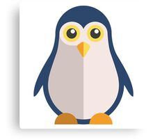 Cute cartoon penguin standing Canvas Print