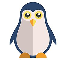 Cute cartoon penguin standing Photographic Print