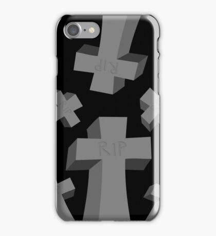 Spooky Scary Graveyard Headstones iPhone Case/Skin
