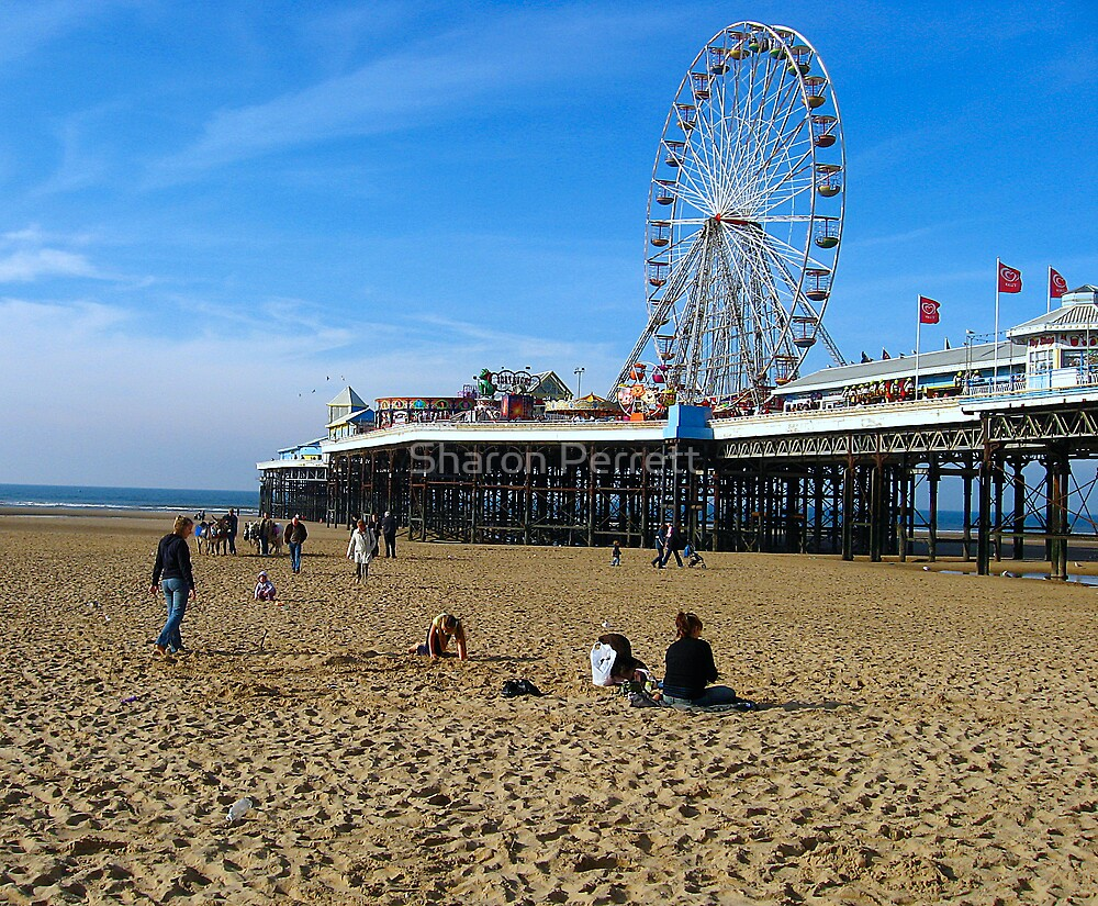 A day at Blackpool Beach by Sharon Perrett