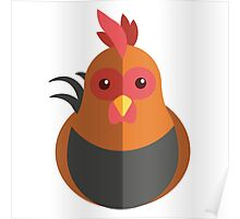 Cute cartoon rooster Poster