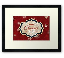 Snowflakes and Doves Christmas Card - Merry Christmas Framed Print