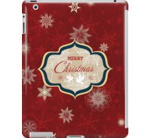 Snowflakes and Doves Christmas Card - Merry Christmas iPad Case/Skin