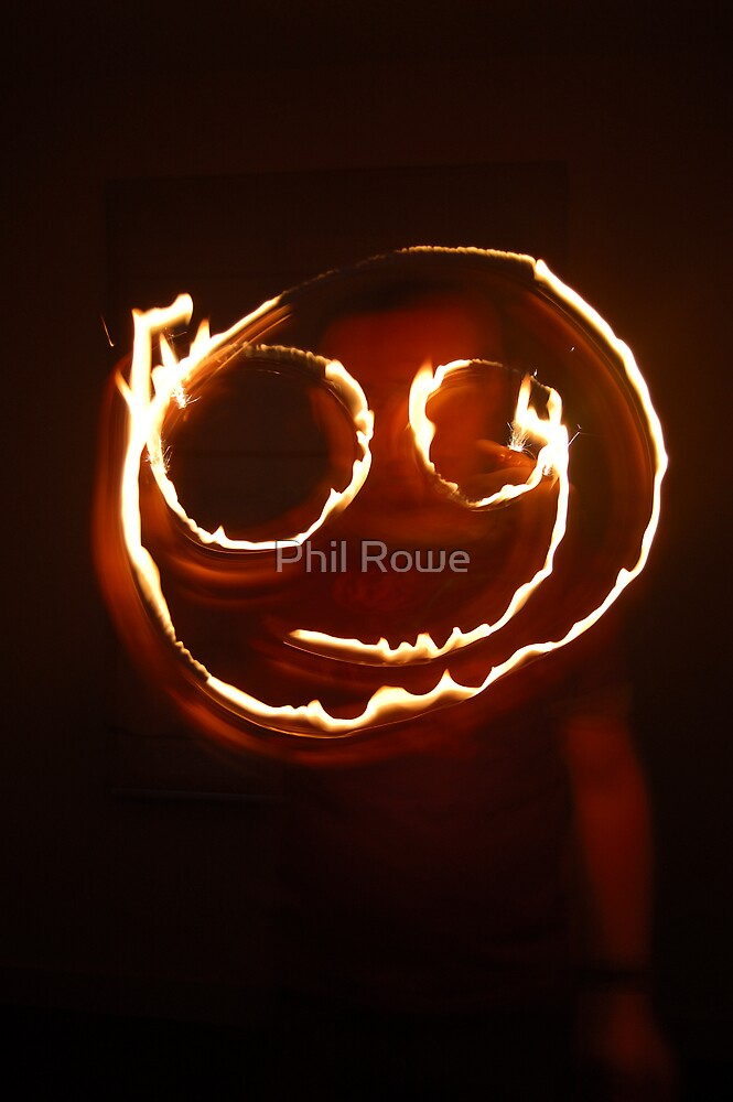 Firey Smiley by Phil Rowe