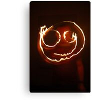 Firey Smiley Canvas Print