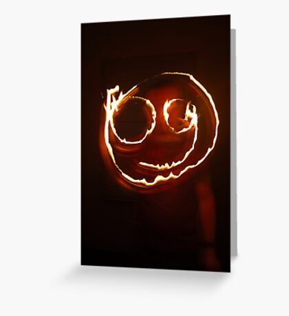 Firey Smiley Greeting Card