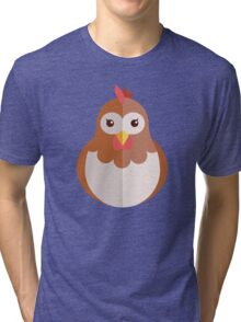 Cute cartoon hen Tri-blend T-Shirt