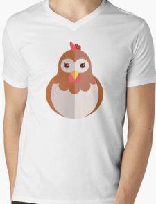 Cute cartoon hen Mens V-Neck T-Shirt