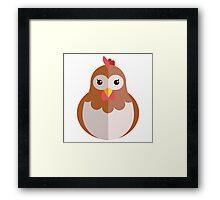 Cute cartoon hen Framed Print