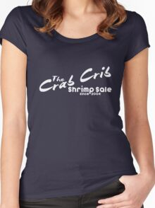 Shrimp Sale at the Crab Crib Women's Fitted Scoop T-Shirt
