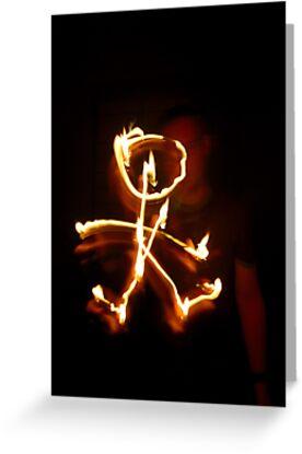 Firey Stickman by Phil Rowe