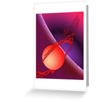 Fiery Planet Greeting Card