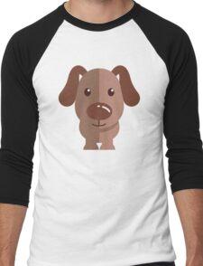 Adorable funny cartoon dog Men's Baseball ¾ T-Shirt