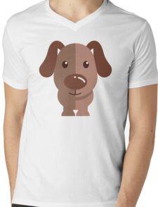 Adorable funny cartoon dog Mens V-Neck T-Shirt