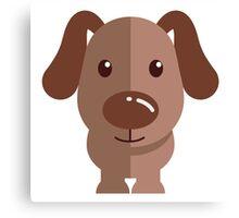 Adorable funny cartoon dog Canvas Print